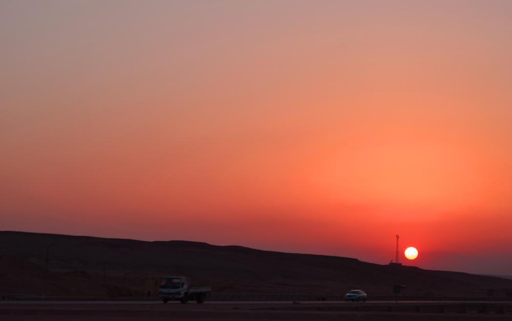 Sunset in Egyptian Desert. Photo: Barbora Sajmovicova, 2011.