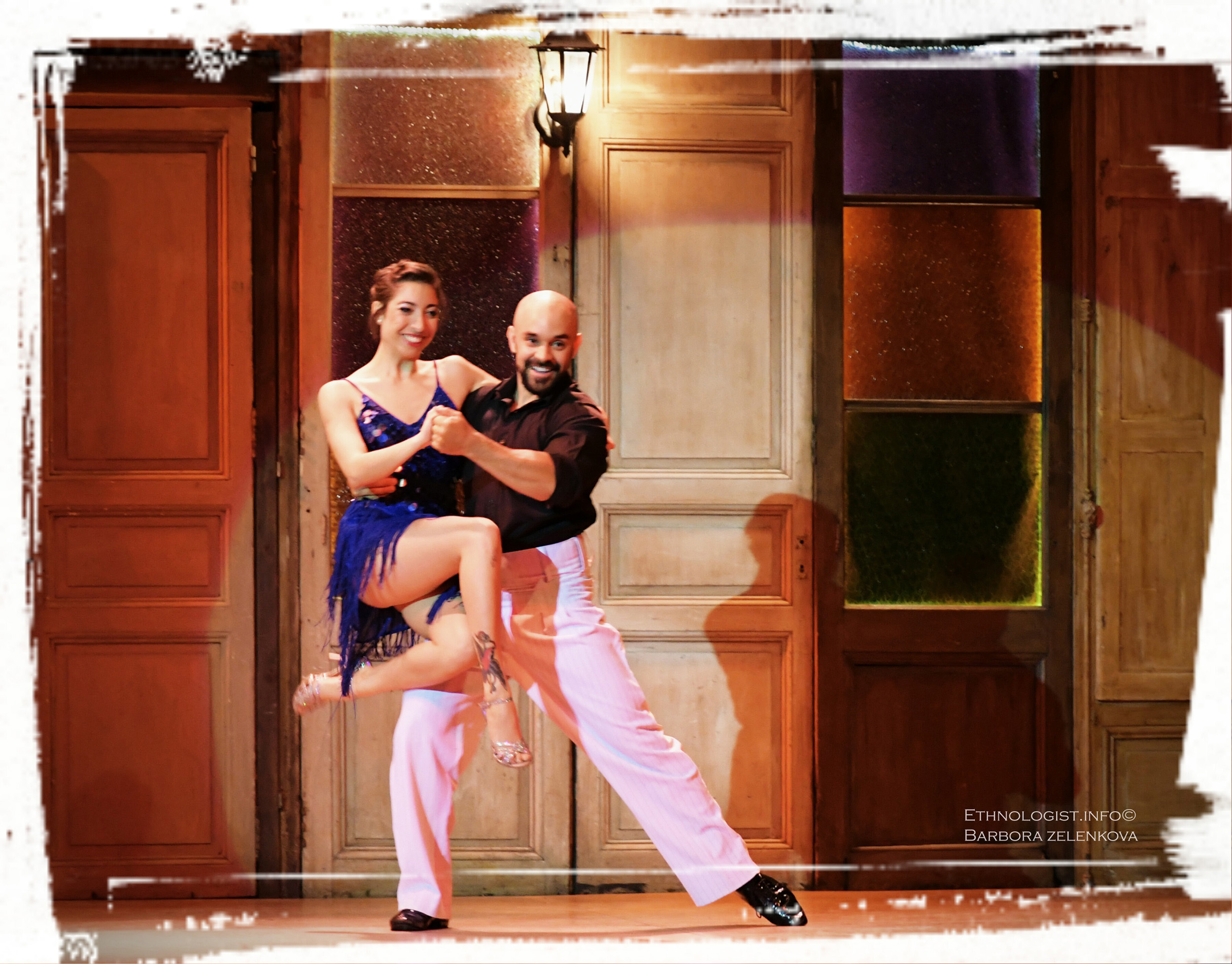 The dancers of tango in dancing hall El Milongón in Montevideo. Photo: Barbora Zelenková, December, 2016.