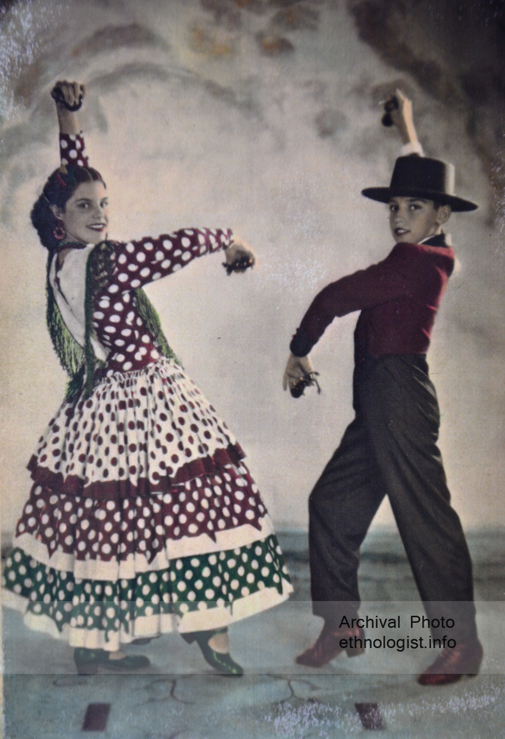Fermín Barnó se svou sestrou Soledad. Archivní fotografie