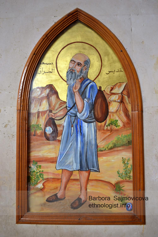 Tradiční zobrazení světce Šimona. Kostel svatého Šimona, Káhira, Foto: Barbora Šajmovičová, 2011.