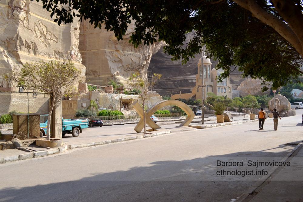 Ulice směřující ke kostelu sv. Šimona. Káhira, říjen 2011, foto: Barbora Šajmovičová