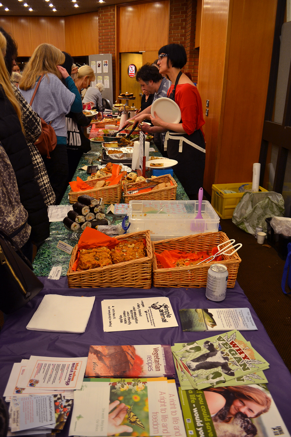 The Fairfoods of Devon with Vegan meals. Photo: Barbora Sajmovicova, 2015.