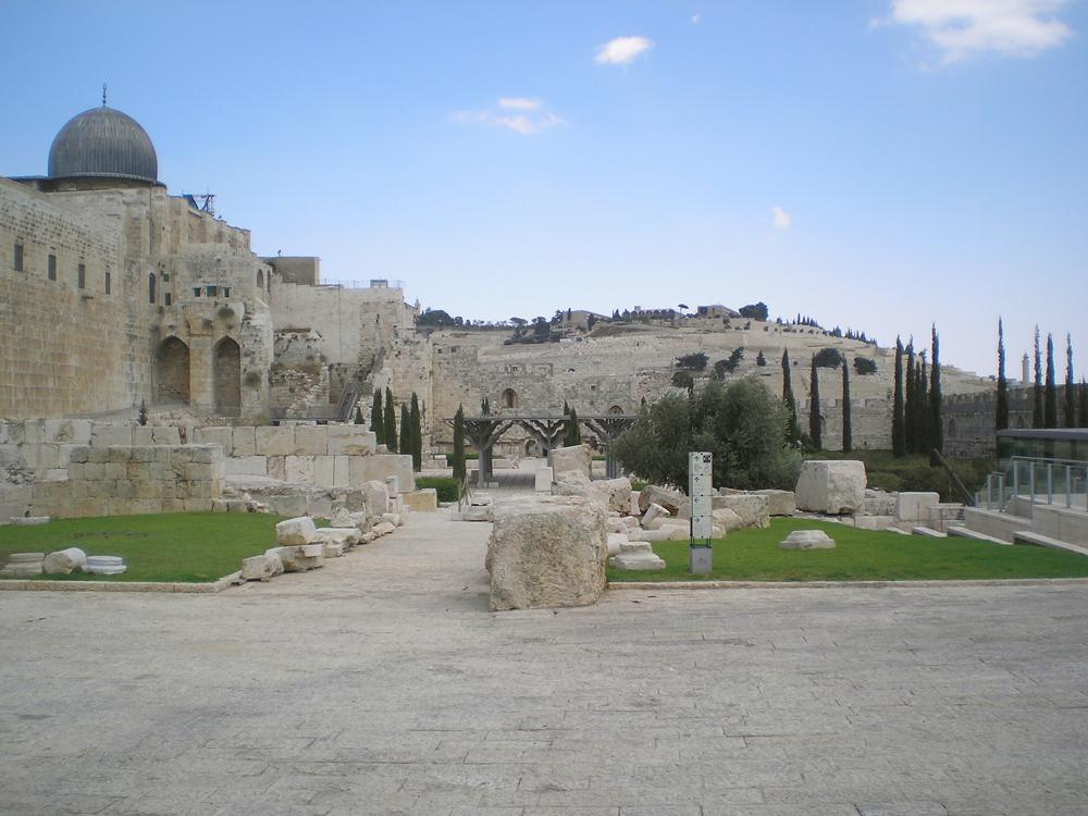 Archeologická lokalita v centru Jeruzaléma. Foto: Barbora Šajmovičová, Izrael, 2009.