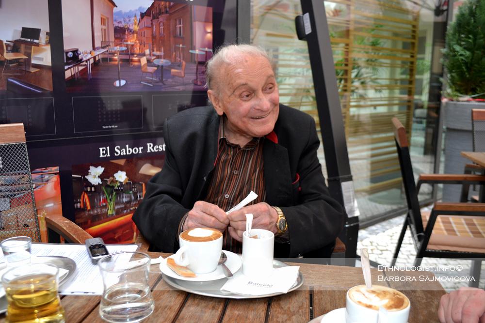 Profesor Leopold Jaroslav Pospíšil v Praze. Foto: Barbora Šajmovičová