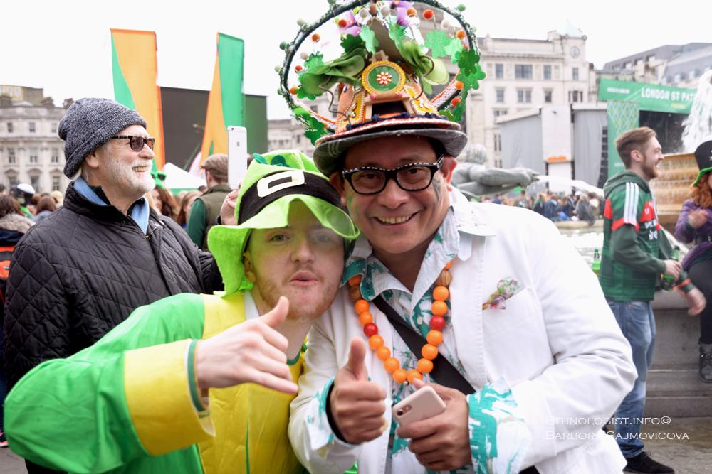 Oslavy svatého Patrika na Trafalgarském náměstí. Foto: Barbora Šajmovičová