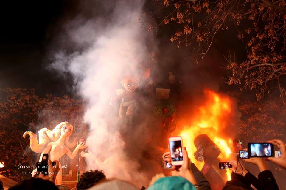 Závěrečný večer oslav Las Fallas. Foto: Eliška Fuentes