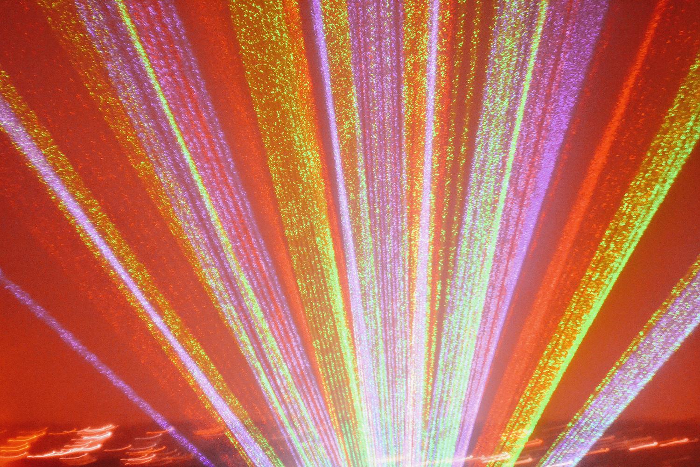 Bonfire night doprovází i světelné a laserové show. Foto: Barbora Zelenková, Alexandra Palace (Londýn), 2015.