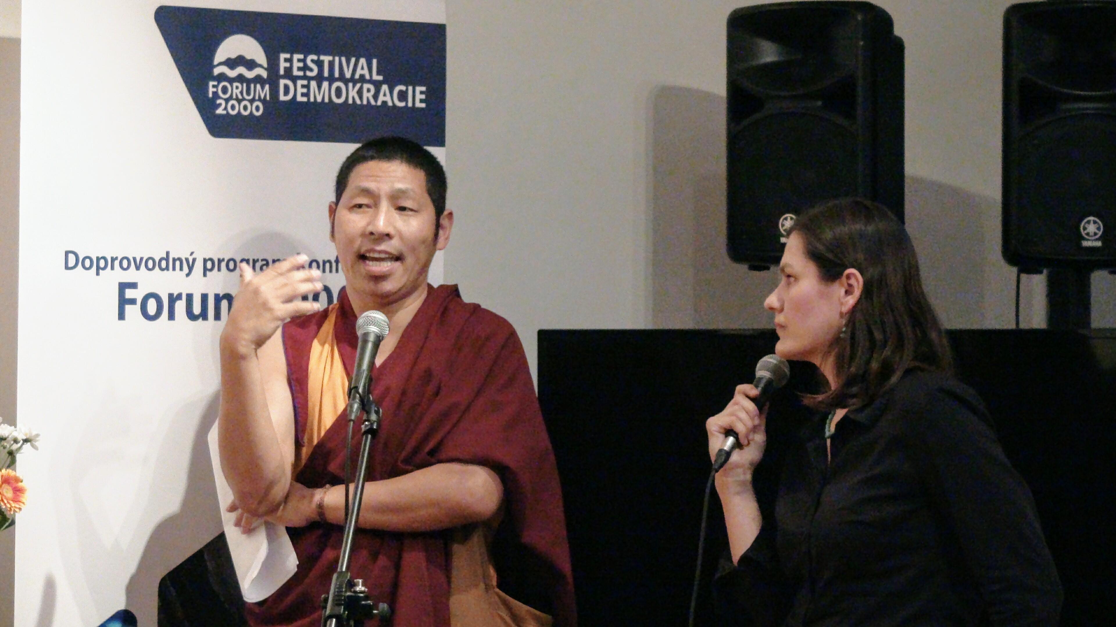 Festival Demokracie – Doprovodný program konference Forum 2000. Foto: Tibet Open House